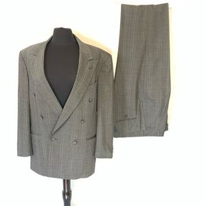 Vintage Henry Grethal Gray Double Breasted Suit